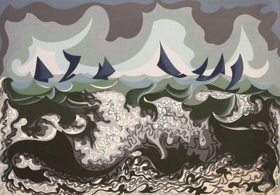 Giacomo Balla, 'Linee Forze Di Mare ', 1920