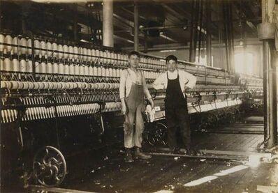 Lewis Wickes Hine, 'Massachusetts Mill, Working in Mule Room', 1912/1912