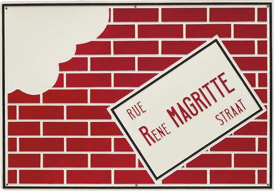 Marcel Broodthaers, 'Rue René Magritte Straat', 1968
