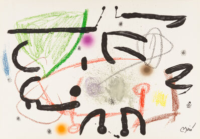Joan Miró, 'UNTITLED from Maravillas con Variaciones Acrósticas en el Jardín de Miró', 1975