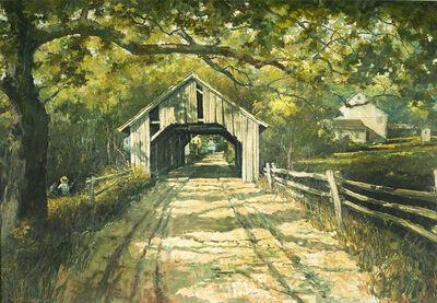 Eric Sloane, 'Landscape with Covered Bridge'
