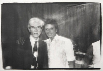 Andy Warhol, 'Andy Warhol and Michael Jackson', ca. 1981