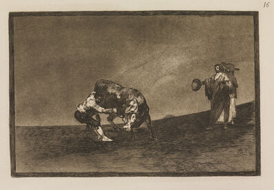 Francisco de Goya, 'The same man throws a bull in the ring at Madrid', 1815-1816