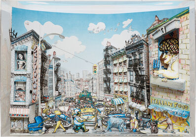 Red Grooms, 'Little Italy', 1989