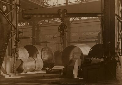 Charles Sheeler, 'Baldwin Locomotive Plant, 1937'