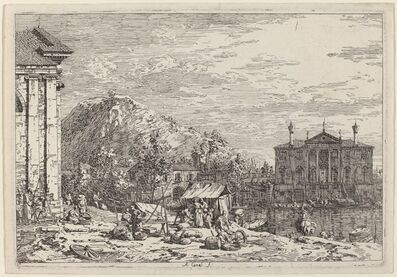 Canaletto, 'The Market at Dolo', ca. 1735/1746