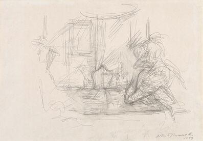 Alberto Giacometti, 'Femme acoudée et personnage lisant à Maloja', 1959