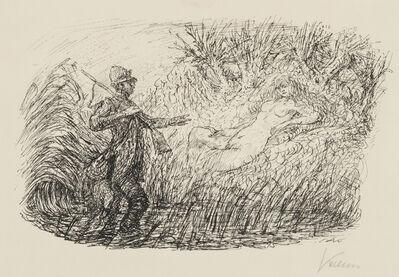 Alfred Kubin, 'Hunter and Nymph', 1924