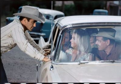 Elliott Erwitt, 'Montgomery Clift, Marilyn Monroe and Clark Gable, Reno, Nevada', 1960