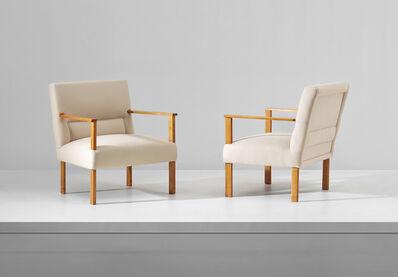 Mario Asnago & Claudio Vender, 'Unique pair of armchairs, designed for villa M., Cantù', circa 1934