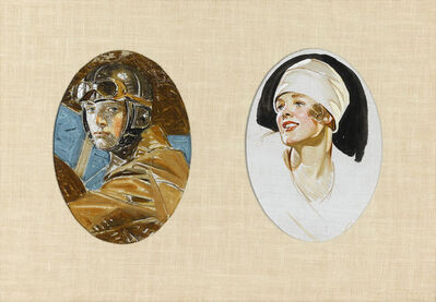Joseph Christian Leyendecker, 'Aviator and Woman in a White Hat', 20th century