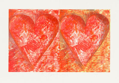 Jim Dine, 'Two Red Hearts', 1993