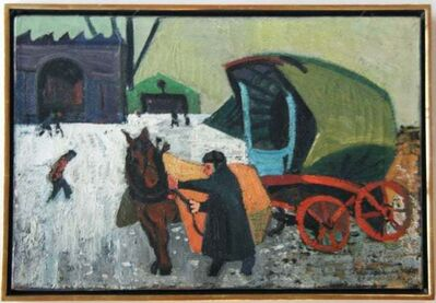 "Gregorio Prestopino, '""Man with Cart"" American Scene Modern Modernism WPA Depression Era Regionalism', ca. 1920s"