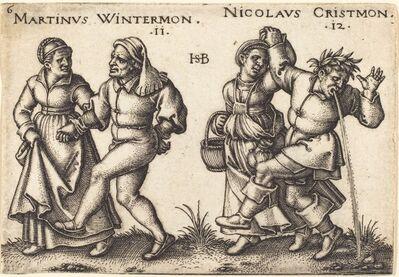 Sebald Beham, 'November and December', 1546/1547