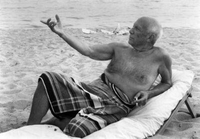 Lucien Clergue, 'Picasso sur la Plage de L'Hotel', 1965