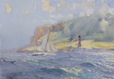 """Marin-Marie, 'The Good Cutter """"Winibelle"""" as She was Passing the Desirade Lighthouse', 1933"""