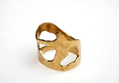 "Jacques Jarrige, 'Gold-plated and hammered ring ""Trio""', 2015"