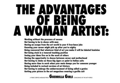 Guerrilla Girls, 'Advantages of Being a Woman Artist', 1988