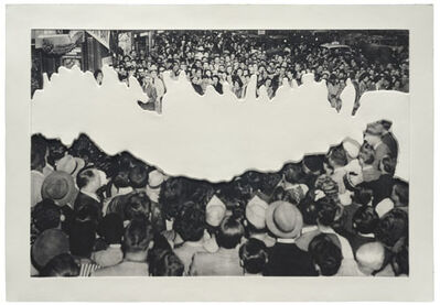 John Baldessari, 'Crowds with Shape of Reason Missing: Example 2', 2012