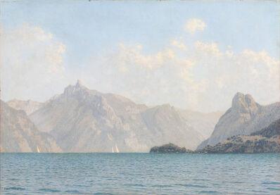 Felix Heuberger, 'Sailing boats on lake Traun', ca. 1930
