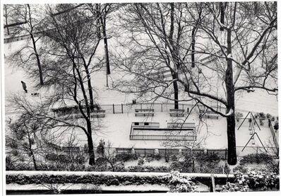 André Kertész, 'Playground in snow', 1970