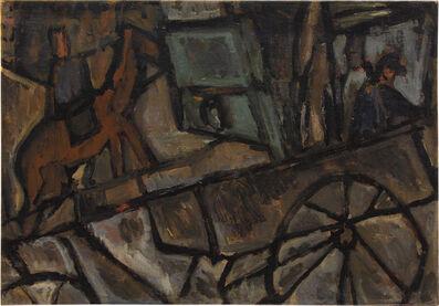 Joaquín Torres-García, 'Straatscène met wagen', 1928