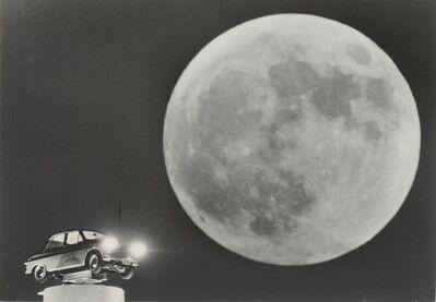 Gen Otsuka 大束 元, 'Full Moon with Car Advertisement', 1958