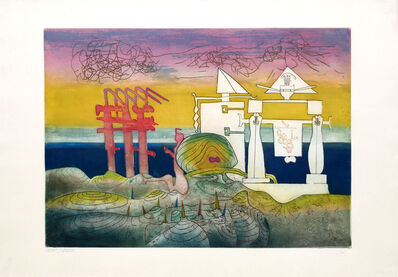 Roberto Matta, '8 PM from L'Arc Obscure des Heures', 1975