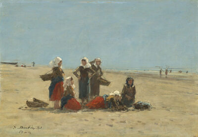 Eugène Boudin, 'Women on the Beach at Berck', 1881