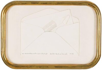 Barton Lidice Benes, 'Suicide Note, Framed Conceptual Art Piece Assemblage Collage', 20th Century