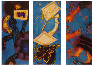 William Scharf, 'Admiration of the Frame, In Folded Guilt, The Relics Remember (From left to right)', 2006, 7, 2003, 7, 2002 (From left to right)