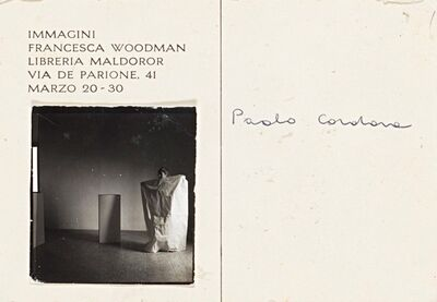 "Francesca Woodman, 'Postcard invitation for ""Immagini"" Exhibition', 1978"