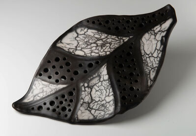 Carol Berger, 'Leaf  I- Monochrome, Black and White,Wall piece', 2019