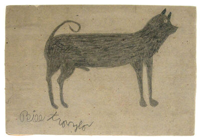 Bill Traylor, 'Male Dog', 1939-42