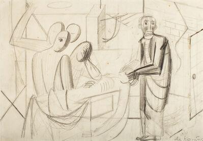 Willem de Kooning, 'The Inquest (The Dead Man)', ca. 1938