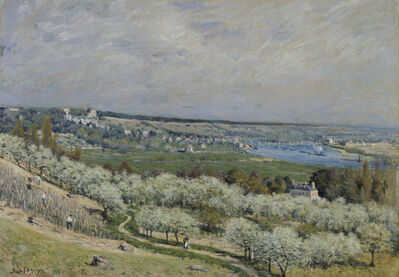 Alfred Sisley, 'The Terrace at Saint-Germain, Spring', 1875