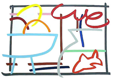 Tom Wesselmann, 'Fast Sketch Still Life with Fruit and Goldfish ', 1989