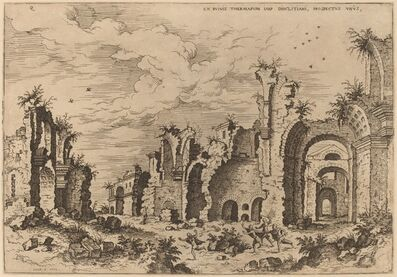 Hieronymus Cock, 'The Baths of Diocletian', 1550