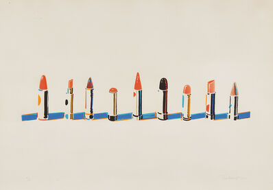 Wayne Thiebaud, 'Lipsticks', 1970