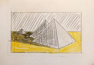 Roy Lichtenstein, 'Pyramids (Study)', 1968