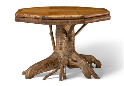 Lee Fountain, 'Adirondack Root Base Center Table', ca. 1915-1930