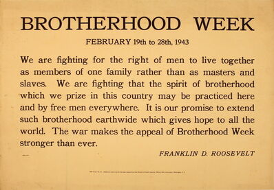 Unknown, 'Brotherhood Week', 1943