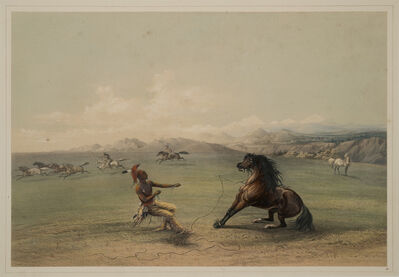 George Catlin, 'Catching the Wild Horse', ca. 1844