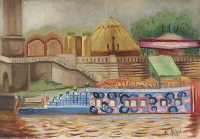 Nathan Spigel, 'Péniche, pont Alexandre III', executed circa 1920