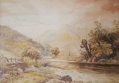 Rose Maynard Barton, 'Autumn, Langdale Pikes from Chapel Stile', ca. 1880