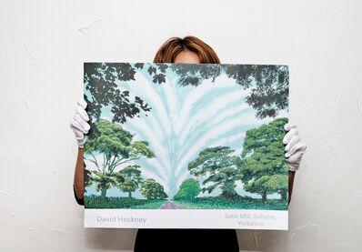 David Hockney, 'Summer Sky', 2008