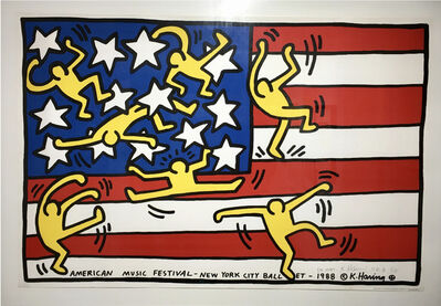 Keith Haring, 'American Music Festival (NYC Ballet)', 1989