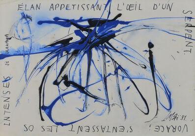 Toshimitsu Imai, 'ELAN APPETISSANT, LOEIL DUN SERPENT', 1981