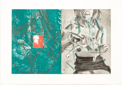 David Salle, 'Canfield Hatfield, Plate 7', 1989
