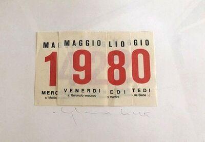 Alighiero Boetti, 'Calendar', 1980